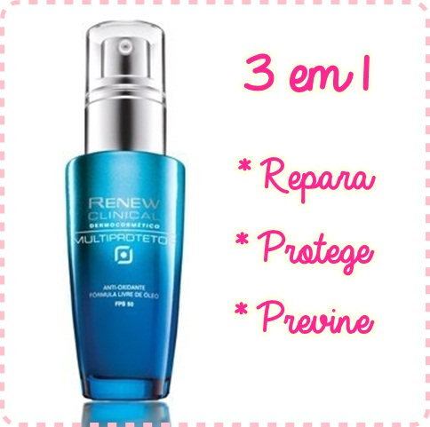 1 TP Renew Clinical Dermocosmético Multiprotetor Antioxidante FPS 50 - Avon