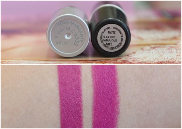 resenha-e-comparação-batom-rosa-marcante-eudora-e-flat-out-fabulous-da-MAC-borboletas-na-carteira-3